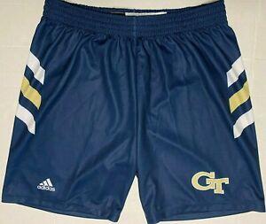 adidas Georgia Tech Yellow Jackets Basketball Shorts Blue NWOT 2XL