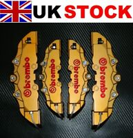 GOLD Brake Caliper Covers DIY Kit 3D logo Front Rear 4pcs ABS 1.0 to 2.0 M+S