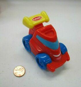 Playskool Hasbro RED SPORTS CAR VEHICLE w/ SMILE Wendy's Kid's Plastic Toy 2005