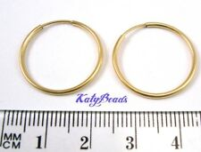2 pairs 14k yellow Gold Filled Earring Endless round hoop Ear wire 20mm Ge12