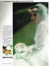 Publicité Advertising 1980 Les robes de mariée Pronuptia