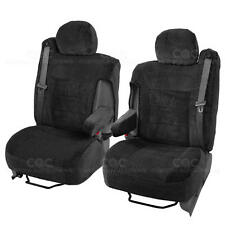 Truck Seat Covers Front Pair Black Scottsdale Specific Fit for Chevy Tahoe