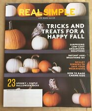 REAL SIMPLE Magazine OCTOBER 2016 New SHIP FREE Happy Fall