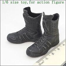 X41-08 1/6 Scale HOT Female GSG Black Boots (hollow) TOYS CG TAKARA ZCWO