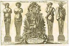 """Le Pautre's - """"TERMES DES 4 SAISONS DE L'ANNEE"""" - Copper Engraving - 1751"""