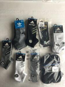 Adidas Low Cut No Show Crew Socks Men New Tags Black Gray White