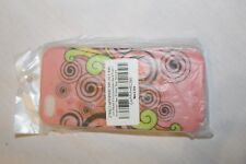 For Apple iPhone 5/5S Pink Spiral Design Print Hard Plastic Case Cover New!