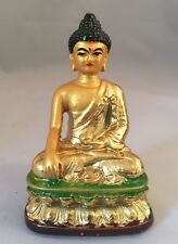 Buda Estatua Resina Dorado Acabado Regalo Navidad Medicina Budha