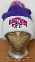 Toronto Raptors Basketball Mitchell & Ness Adult Knit Cuffed Beanie Pom Hat Cap