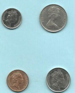4 Bermuda Coin Lot Set 1984 -- 1990