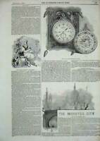Original Old Antique Print 1844 Sultan Abdul Medschid'S Watch Arms Duchy Baden