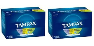 (Pack of 2) Tampax Multipax Cardboard Applicator Tampons Unscented 80 ct = 160ct