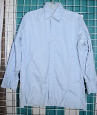 Pierre Cardin Men button up vintage Long Sleeve button up 16.5 shirt Baby Blue