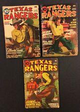 3 Vintage TEXAS RANGERS PULP Magazines 1944 Western Stories Better Publications