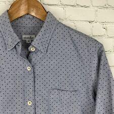 Women's Steven Alan (Medium) Gray Polka Dot Chambray Button Front Shirt EUC