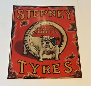 """Metal sign """"Stepney Tyres"""" reproduction"""