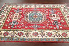 South-west RED Kazak Pakistan Oriental Area Rug WOOL Hand-Knotted Carpet 5'x7'