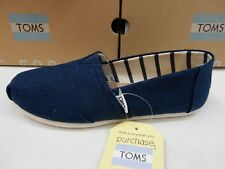 TOMS WOMENS SHOES CLASSIC MAJOLICA BLUE HERITAGE CANVAS SIZE 8.5