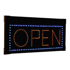 LED Open Sign Business Office Window Hanging Rectangular Light Blinking Effects