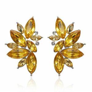 925 Silver Women Bee Zircon Dangle Earrings Crystal Drop Earrings Jewelry Gifts