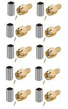SMA male plug crimp x 10 RG58 RG142 LMR195 F1378AK