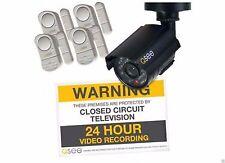New Q-See 1 Decoy Camera, 4 Alarm Sensors & Sign Surveillance Set