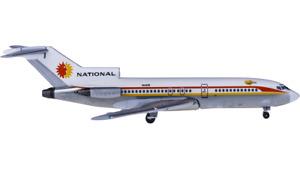 1:400 Aeroclassics NATIONAL BOEING 727-200 Passenger Airplane Diecast Model