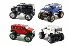 Set of 4 Cars:2008 Monster 4x4 Hummer H2 SUV 1/40  COLORS:Blue,Red,Black Diecast