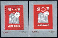 507 Yugoslavia - Macedonia 1989 Red Cross, Perf. + Imperf.  Booklet (2) MNH