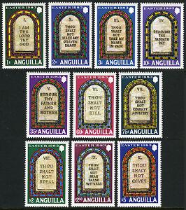 Anguilla 526-535, MNH. Easter. Ten Commandments, 1983
