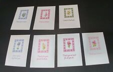 7 Assorted Unused Blank Thank You Cards with Various Floral Designs Bag #4