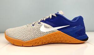 Nike Metcon 4 XD Training Shoes Light Bone/Royal/Orange BV1636-002 Men Size 8.5
