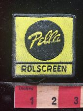 Dirty & As-Is PELLA WINDOWS ROLSCREEN Advertising / Uniform Patch - 76YE