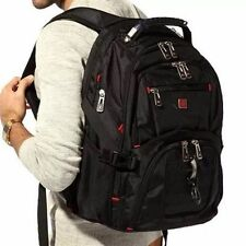 """Men Travel Bags 17"""" Original Waterproof Swiss Gear Macbook Laptop Hike Backpack"""