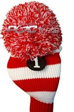 new #1 RED WHITE POM POM headcover golf club head cover fits Taylormade driver