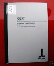 Okuma Ogl5 Gantry Loader Operation & Maint. Manual Pub No 3738-E-R1 (Inv.12284)