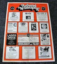 Winnipeg 1980 Rod Rama Folk Festival Assiniboia Downs Hulk Laser Drive Poster FN