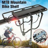 Bicycle Mountain Bike Rear Rack Seat Post Mount Pannier Luggage Carrier Metallic