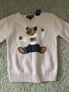 Ralph Lauren Girls polo bear sweater