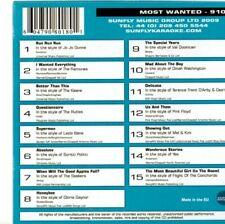 Sunfly Most Wanted 910 15 Massive Hits CDG Karaoke SMW910