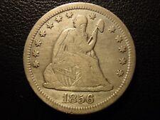 1856 o liberty seated quarter