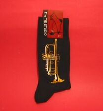 Trumpet Design Men's Cotton Socks Music Gift Brass Band Orchestra Musician