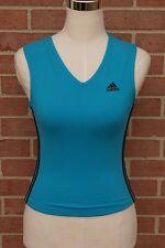 Adidas Womens Running Work-Out Shirt Blue Tank Top Size S