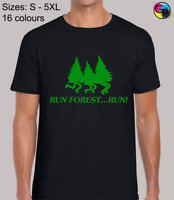 Run Forest Run Comedy Movie Film Inspired Novelty Fit T-Shirt Top for Men