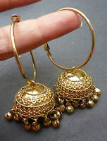 Indian Bridal gold Plated South Traditional Earrings Jhumka Ring Jhumki Set Set