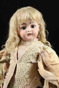 "26"" Simon & Halbig 1079 DEP Doll Antique German Bisque Pierced Ears S&H Mohair"