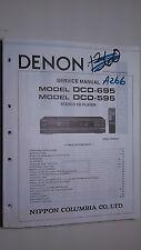 Denon dcd-695 595 service manual original repair book stereo cd player