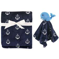 Baby Plush Blanket Security Nautical Whale Ocean Beach Girl Boy Gift Soft New