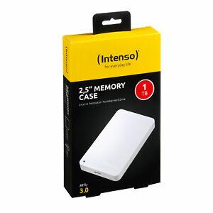 """Intenso Memory Case 2.5"""" USB 3.0, 1TB disco rigido Hard Disk esterno  bianco"""
