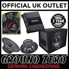 """Ground Zero Activo Amplificador Sub recinto y 6.5"""" altavoces de la puerta de coche de componentes"""